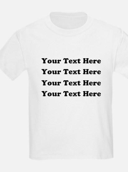 Custom add text T-Shirt