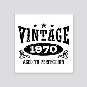 "Vintage 1970 Square Sticker 3"" x 3"""