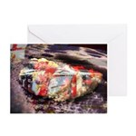 Half Biscuit beached Greeting Cards (Pack of 6)