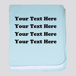 Custom add text baby blanket