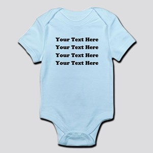 Custom add text Infant Bodysuit