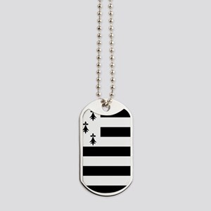 Brittany flag Dog Tags