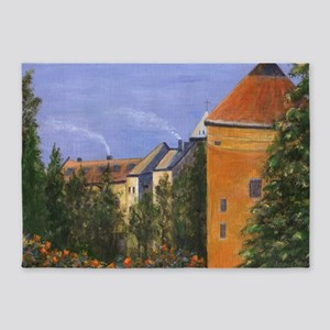 Prague Castle 5'x7'Area Rug