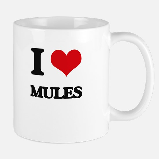I Love Mules Mugs