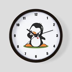 Cute Penguin Popo (!) Wall Clock