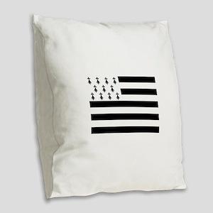 Brittany flag Burlap Throw Pillow
