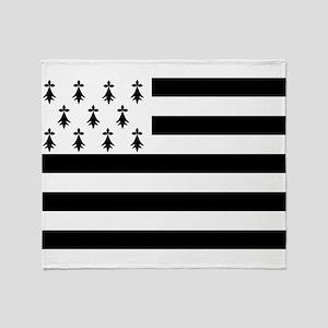 Brittany flag Throw Blanket
