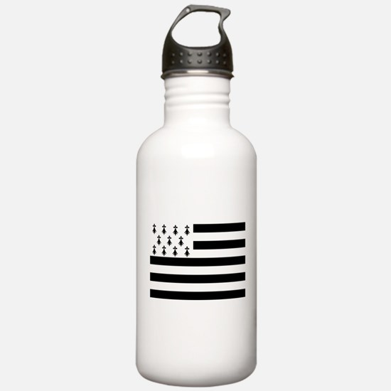 Brittany flag Water Bottle
