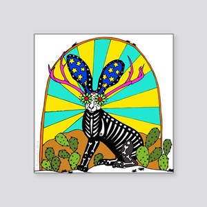 Sugar Skull Jackalope Sticker
