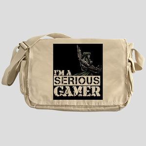 Serious Gamer: Galactic Merc Black Messenger Bag