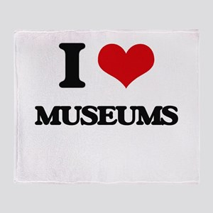 I Love Museums Throw Blanket