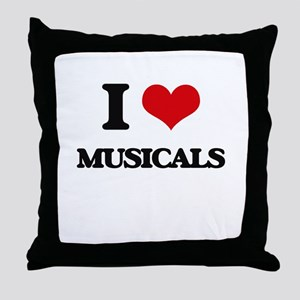 I Love Musicals Throw Pillow