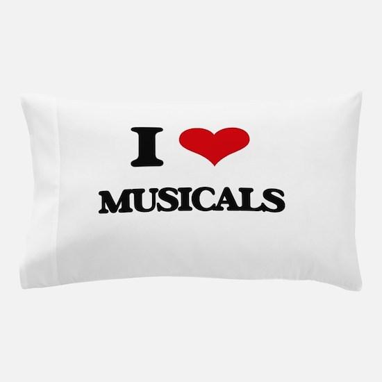I Love Musicals Pillow Case