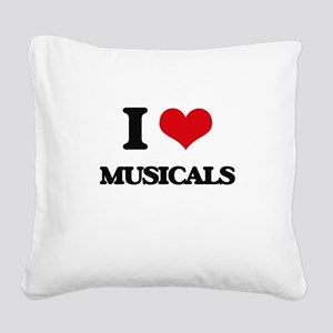 I Love Musicals Square Canvas Pillow