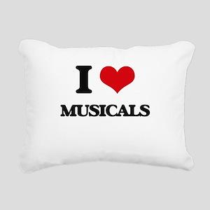 I Love Musicals Rectangular Canvas Pillow