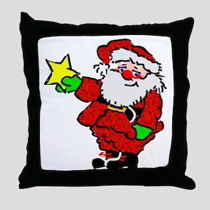 Santa Claus with Star Throw Pillow