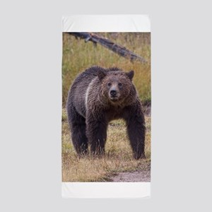 Yellowstone Grizzly Beach Towel