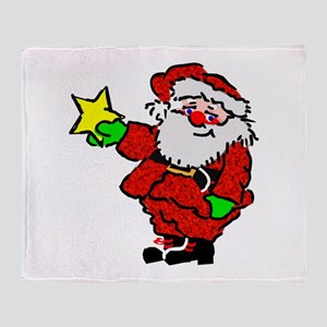Santa Claus with Star Throw Blanket