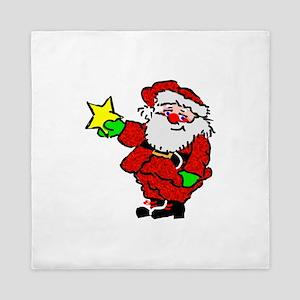 Santa Claus with Star Queen Duvet