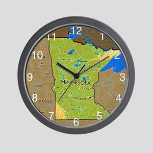 Minnesota Central Time Zone Wall Clock