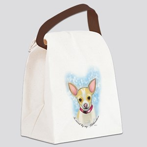 Loved by Chihuahua Canvas Lunch Bag