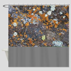 Lichen and Rock Shower Curtain