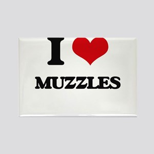 I Love Muzzles Magnets