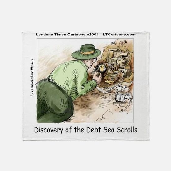 Debt Sea Scrolls Throw Blanket