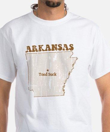 Vintage Toad Suck, Arkansas White T-Shirt