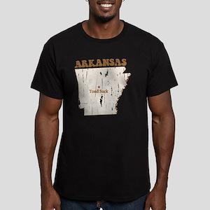 Vintage Toad Suck, Ark Men's Fitted T-Shirt (dark)