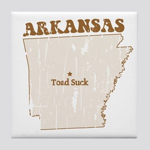 Vintage Toad Suck, Arkansas Tile Coaster