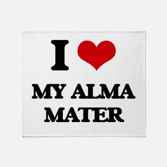 I Love My Alma Mater Throw Blanket