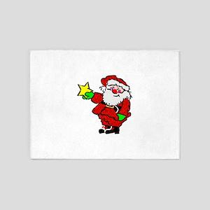 Santa Claus with Star 5'x7'Area Rug