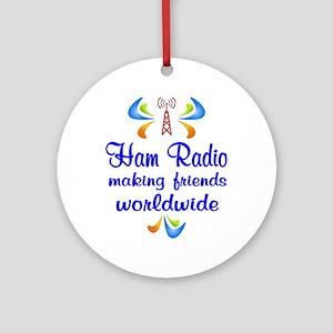 Ham Radio Worldwide Ornament (Round)