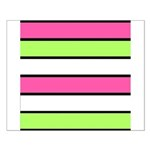 Hot Pink, Neon Green and White Stripes Posters