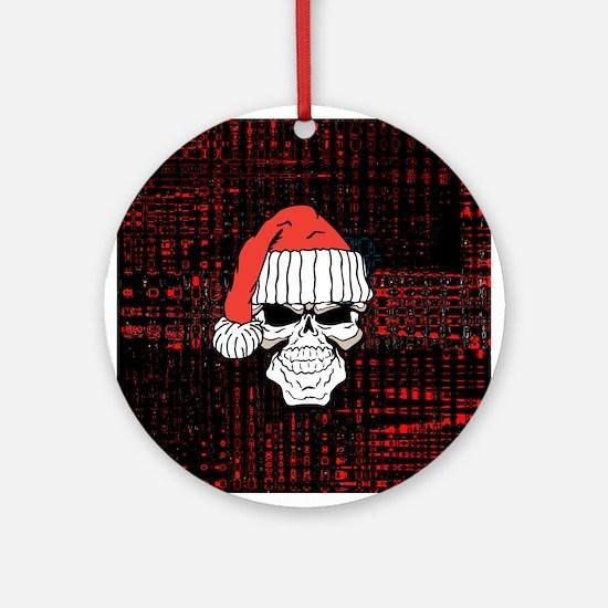 Santa Skull Ornament (Round)
