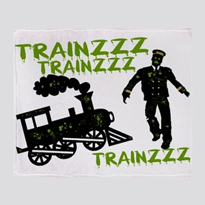 Zombie Train Conductor Throw Blanket