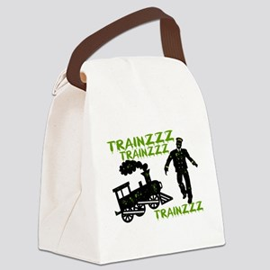 Zombie Train Conductor Canvas Lunch Bag