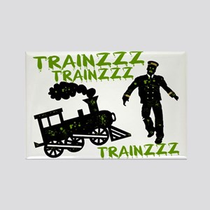 Zombie Train Conductor Rectangle Magnet