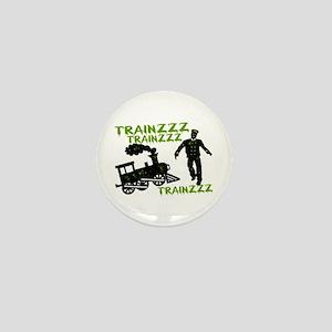 Zombie Train Conductor Mini Button