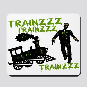 Zombie Train Conductor Mousepad