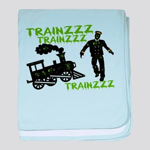 Zombie Train Conductor baby blanket