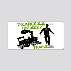 Zombie Train Conductor Aluminum License Plate