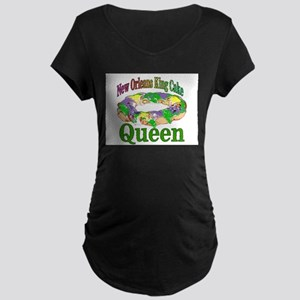 King Cake Queen Maternity T-Shirt