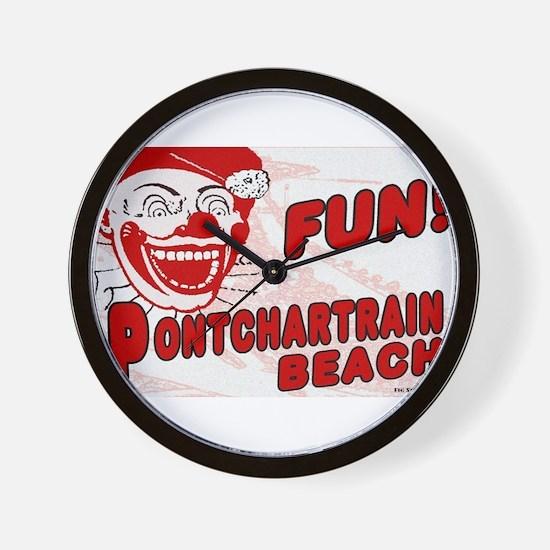 Pontchartrain Beach Clown Wall Clock