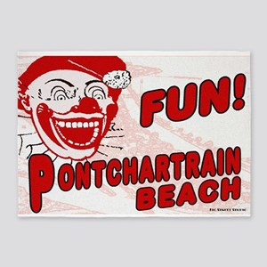 Pontchartrain Beach Clown 5'x7'Area Rug
