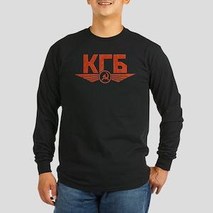 KGB Emblem Red Long Sleeve T-Shirt