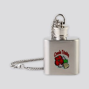 Creole Trinity Flask Necklace