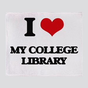 I love My College Library Throw Blanket