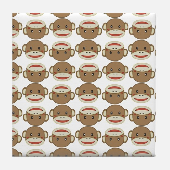 Silly Sock Monkey Tile Coaster